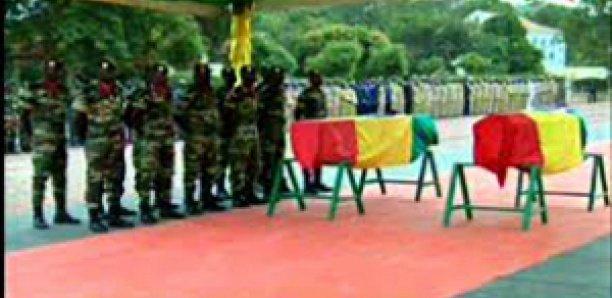 CAMP DIAL DIOP – Levée du corps des militaires décédés dans le crash