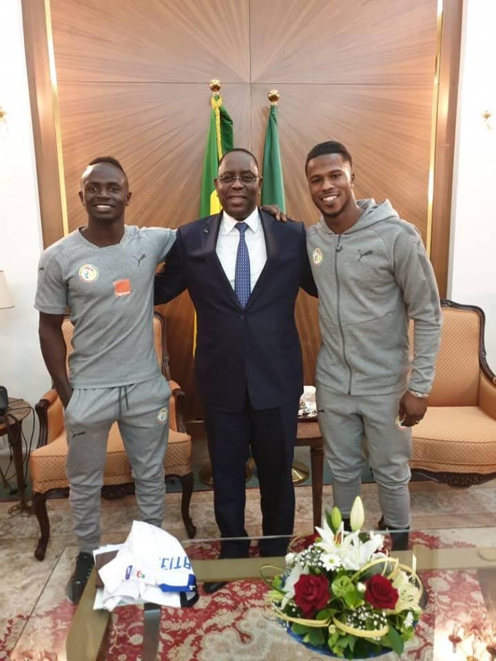 Diao Baldé et Sadio Mane ont été reçus au palais par le Président de la République, Macky Sall